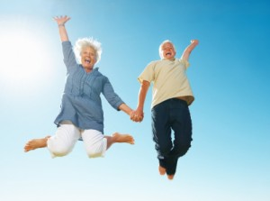 seniorcouplejumping 300x223 Free Book from CEO Gary Green: No Guts, No Glory!