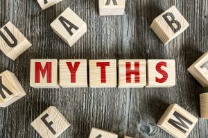 Wooden Blocks spelling Myths